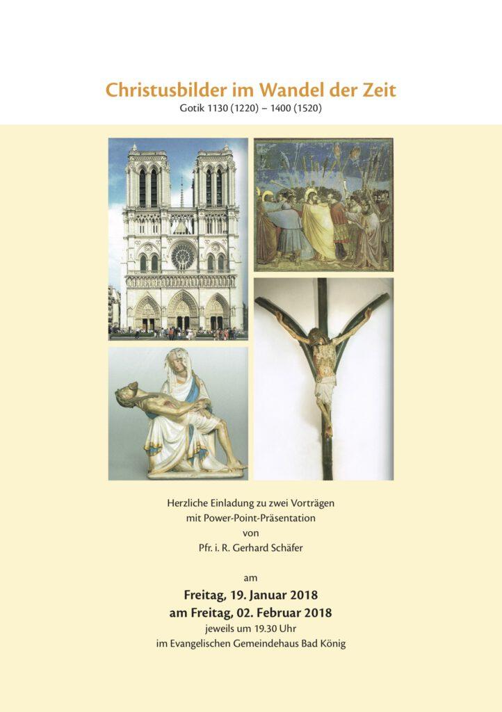 """Plakat zu """"Christusbilder im Wandel der Zeit"""""""