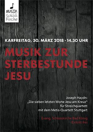 Plakat zum Konzert am Karfreitag